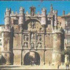 Postales: 3 - BURGOS.- ARCO Y PUERTA DE SANTA MARIA. Lote 133817038