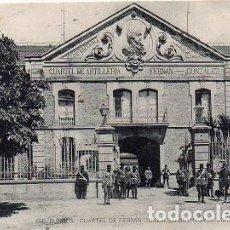 Postales: BURGOS - 166 CUARTEL DE ARTILLERÍA FERNÁN GONZÁLEZ - ENTRADA AL CUARTEL. Lote 134093674
