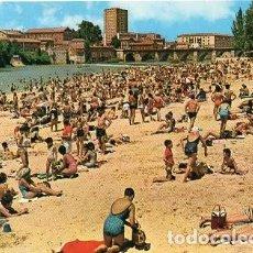 Postales: VALLADOLID - 42 PLAYA ARTIFICIAL EN EL RÍO PISUERGA. Lote 134103118
