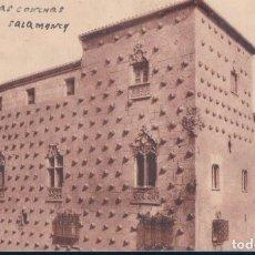 Postales: POSTAL SALAMANCA - CASA DE LAS CONCHAS - HUECOGRABADO VASCO J M - CIRCULADA. Lote 134165446