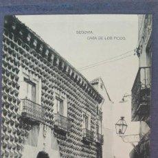 Postales: POSTAL SEGOVIA CASA DE LOS PICOS EDIC HAUSER Y MENET CASTILLA Y LEON PERFECTA CONSERVAC . Lote 134278606
