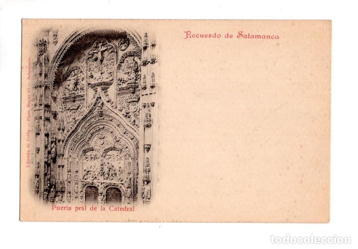 SALAMANCA.- RECUERDO DE SALAMANCA. PUERTAPRAL DE LA CATEDRAL (Postales - España - Castilla y León Antigua (hasta 1939))