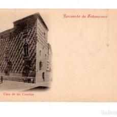 Postales: SALAMANCA.- RECUERDO DE SALAMANCA. CASA DE LAS CONCHAS. Lote 134919226