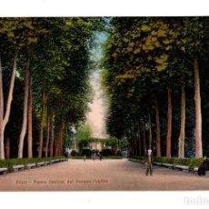 Postales: BÉJAR (SALAMANCA).- PASEO CENTRAL DEL PARQUE PÚBLICO. ED. HIJO DE DANIEL R. ARIAS. Lote 135070298