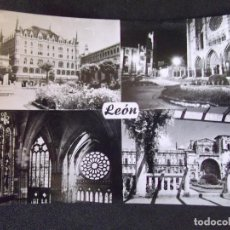 Cartes Postales: LEON-V43-NO ESCRITA-CAJA DE AHORROS Y MONTE DE PIEDAD-CATEDRAL-JARDINES DE SAN MARCOS. Lote 135173370
