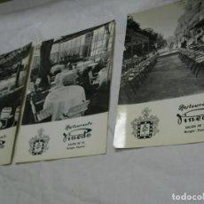 Postales: BURGOS LOTE DE 6 POSTALES DEL ANTÍGUO RESTAURANTE PINEDO. Lote 135196890