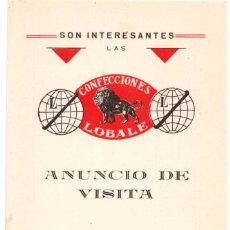 Postales: LEÓN. POSTAL PUBLICITARIA CONFECCIONES LOBALE. HIJO SUCESOR DE ÁNGEL LOBATO. . Lote 135405262