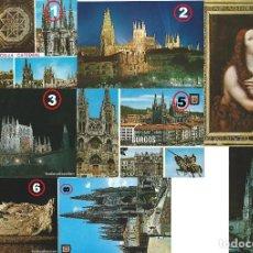 Postales: LOTE DE 8 POSTALES DE LA CIUDAD DE BURGOS Y SU CATEDRAL AÑOS 70. Lote 135696563