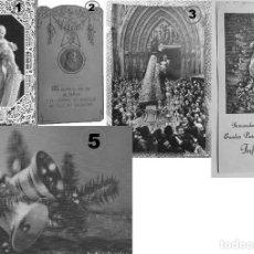 Postales: LOTE DE 5 POSTALES RECORDATORIOS RELIGIOSOS Y OTROS. Lote 135713335