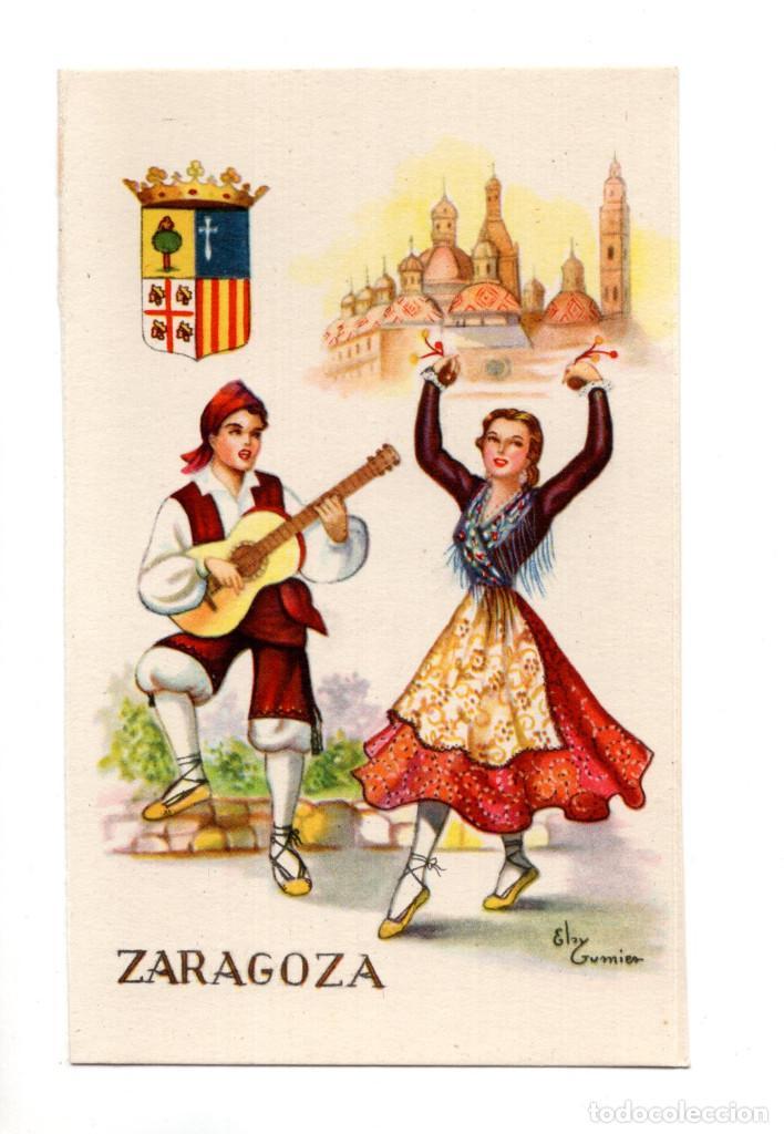 ZAMORA.- TRAJE REGIONAL. DIBUJO DE ELSY GUMIER (Postales - España - Castilla y León Antigua (hasta 1939))