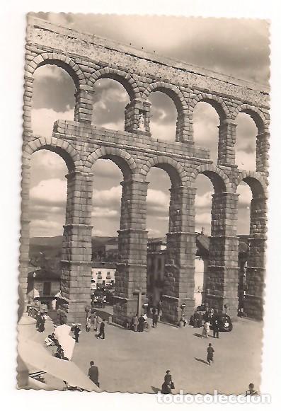 SEGOVIA - DETALLE DEL ACUEDUCTO EN LA PLAZA DEL AZOGUEJO Nº22 - EDICIONES GARCÍA GARRABELLA (Postales - España - Castilla y León Moderna (desde 1940))