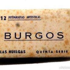 Postales: 12 POSTALES ACORDEÓN BURGOS LAS HUELGAS QUINTA SERIE TAMAÑO 9 CM X 6 CM. Lote 136201214