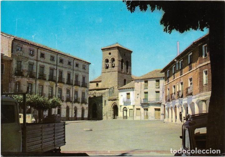 CARRION DE LOS CONDES Nº 5 PLAZA MAYOR , IGLESIA SANTIAGO .- POSTALES INTER (Postales - España - Castilla y León Moderna (desde 1940))