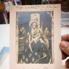 Cartoline: POSTAL VIRGEN DE LA LECHE RETABLO DESAPARECIDO 1955 ESCRITA. Lote 138051090
