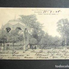 Postales: POSTAL PALENCIA. PASEO SALÓN DE ISBLE II. PRIMERA EDICIÓN. CIRCULADA. AÑO 1905. . Lote 138556906