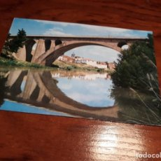 Postales: ARANDA DE DUERO ( BURGOS) - RIO DUERO- PUENTE DE FERROCARRIL -ED. VISTABELLA. Lote 139127182