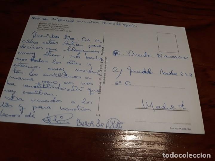 Postales: ARANDA DE DUERO ( BURGOS) - RIO DUERO- PUENTE DE FERROCARRIL -ED. VISTABELLA - Foto 2 - 139127182