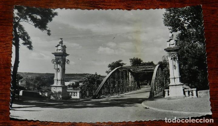 FOTO POSTAL DE PALENCIA, PUENTE DE HIERRO DE ABILIO CALDERON, N.2, ED. SICILIA, NO CIRCULADA. (Postales - España - Castilla y León Antigua (hasta 1939))