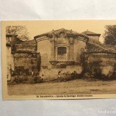 Postales: SALAMANCA. POSTAL NO.28, IGLESIA DE SANTIAGO: ABSIDE ROMANO. EDITA: H. A. E (H.1940?). Lote 140423482