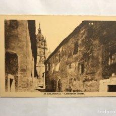 Postales: SALAMANCA. POSTAL NO.29, CALLE DE LOS LEONES. EDITA: H.A.E.(H.1940?). Lote 140423982