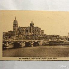 Postales: SALAMANCA. POSTAL NO.46, VISTA PARCIAL. CATEDRAL Y PUENTE NUEVO. EDITA: H. A. E. (H.1940?). Lote 140424966