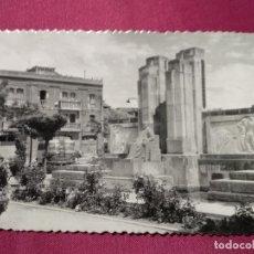 Postales: TARJETA POSTAL. ARANDA DE DUERO . Nº 23. PLAZA PRIMO DE RIVERA (MONUMENTO). SICILIA. Lote 140603046