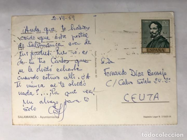 Postales: SALAMANCA. Postal Ayuntamiento. Edita : Fardi Barcelona (h.1960?) - Foto 2 - 140664438
