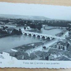 Postales: POSTAL PALENCIA VISTA DEL CARRIÓN Y SUS PUENTES ED. ARRIBAS Nº 2 AÑO 1954 14X9 CM.. Lote 140742242