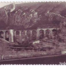 Postales: PANCORBO (BURGOS): ANTIGUO Y NUEVO PUENTE DE PANGUA. FOTO COLÓN. NO CIRCULADA (AÑOS 50). Lote 140786910