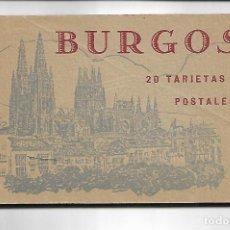 Postales: BURGOS - LIBRILLO CON 20 TARJETAS POSTALES. Lote 141488174
