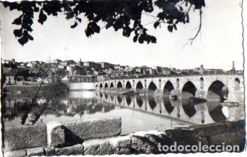 TARJETA POSTAL DE ZAMORA. PUENTE ROMANO. (Postales - España - Castilla y León Moderna (desde 1940))