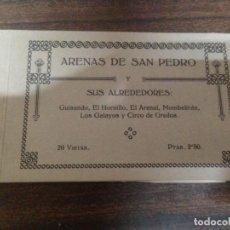 Postales: BLOC CUADERNILLO 20 POSTALES ARENAS DE SAN PEDRO Y SUS ALREDEDORES . Lote 142585590