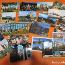 Postales: SEGOVIA - 21 POSTALES - 10 CIRCULADAS CON SELLOS AÑOS 60/70/80/90. Lote 143203422