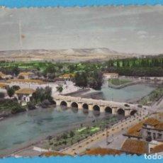 Postales: PALENCIA. 33. RÍO CARRIÓN Y PUENTES. EDICIONES SICILIA. PAPELERÍA COLÓN. COLOREADA. Lote 143261154