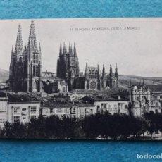 Postales: BURGOS. LA CATEDRAL DESDE LA MERCED.. Lote 143371710