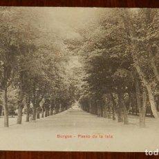 Postales: POSTAL DE BURGOS, PASEO DE LA ISLA, EDICION P.Z. NUMERO 10117, CIRCULADA.. Lote 143536182
