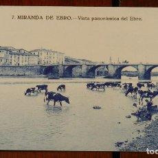 Postales: POSTAL DE MIRANDA DE EBRO, VISTA PANORAMICA DEL EBRO, BURGOS, N. 7, NO CIRCULADA.. Lote 143540438