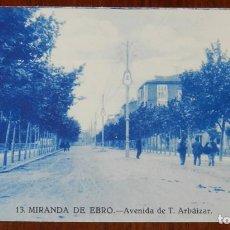 Postales: POSTAL DE MIRANDA DE EBRO, BURGOS, AVENIDA DE T. ARBAIZAR, N. 13, NO CIRCULADA.. Lote 143540578