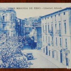 Postales: POSTAL DE MIRANDA DE EBRO, BURGOS, LIBERTAD, ALLENDE, N. 8, NO CIRCULADA.. Lote 143540658