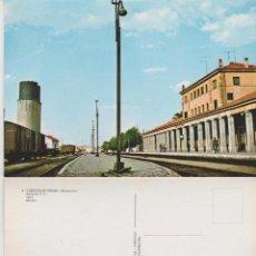 Postales: POSTALES POSTAL FUENTES DE OÑORO SALAMANCA ESTACION DE TRENES FERROCARRIL AÑOS 60. Lote 222478460