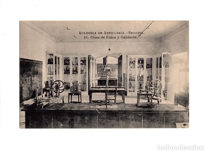 SEGOVIA.- ACADEMIA DE ARTILLERÍA - CLASE DE FÍSICA Y GABINETE (Postales - España - Castilla y León Antigua (hasta 1939))
