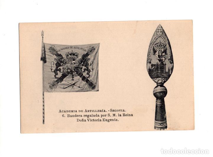 SEGOVIA.- ACADEMIA DE ARTILLERÍA - BANDERA REGALADA POR S.M. LA REINA DOÑA VICTORIA EUGENIA (Postales - España - Castilla y León Antigua (hasta 1939))