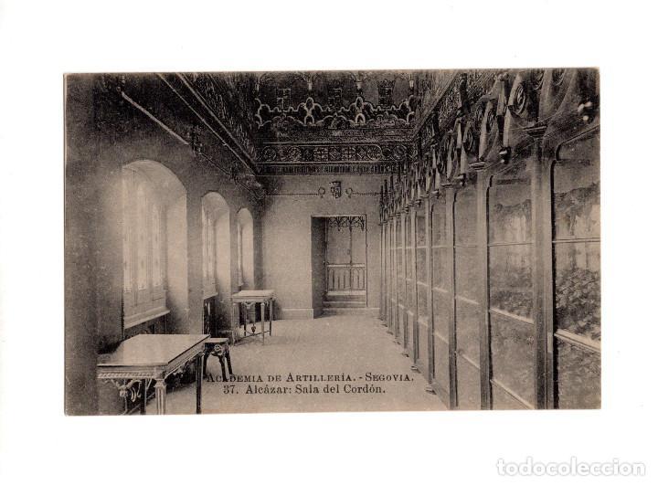 SEGOVIA.- ACADEMIA DE ARTILLERÍA - ALCÁZAR SALA DEL CORDÓN (Postales - España - Castilla y León Antigua (hasta 1939))