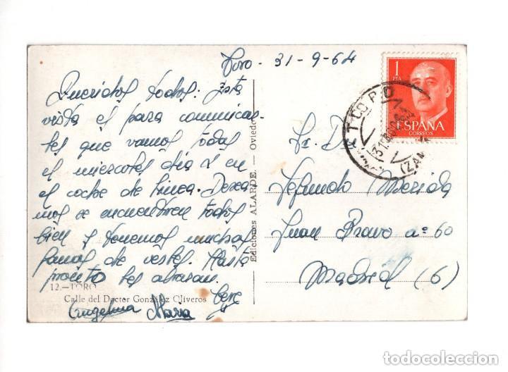 Postales: TORO.(ZAMORA).- CALLE DOCTOR GONZALEZ OLIVEROS. EDICIONES ALARDE - Foto 2 - 146406534