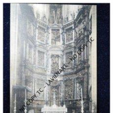 Postales: POSTAL ASTORGA - CASTILLA Y LEÓN - 9 DETALLE ALTAR MAYOR CATEDRAL- SIN EDITOR ILUMINADA - MUY RARA. Lote 147401118
