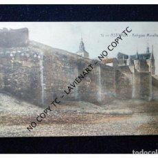 Postales: POSTAL ASTORGA - CASTILLA Y LEÓN - 12 ANTIGUAS MURALLAS- SIN EDITOR ILUMINADA - MUY RARA. Lote 147401254