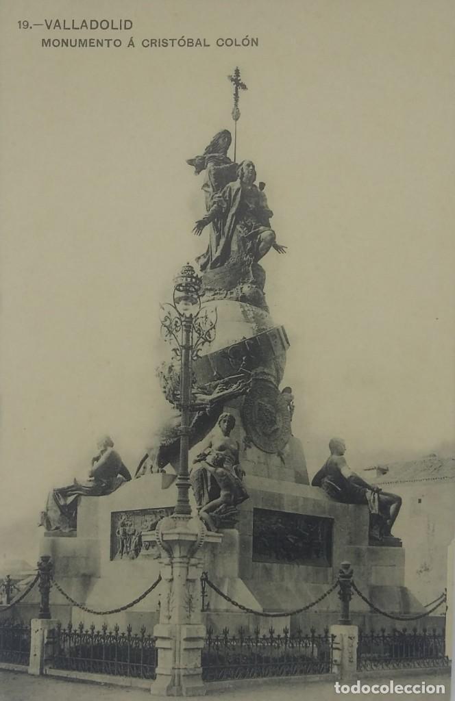 19 VALLADOLID. MONUMENTO A CRISTÓBAL COLÓN. (Postales - España - Castilla y León Antigua (hasta 1939))