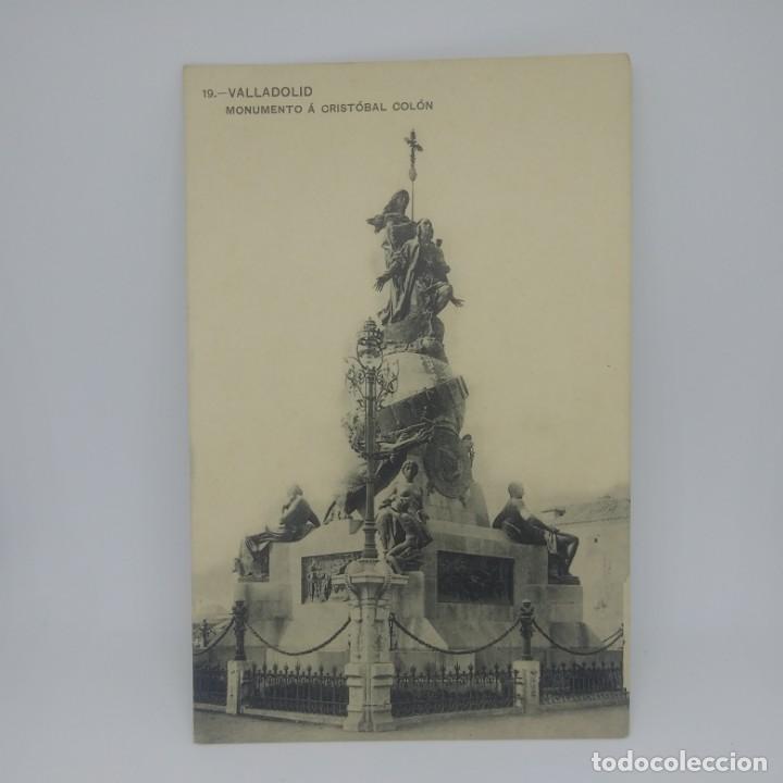 Postales: 19 Valladolid. Monumento a Cristóbal Colón. - Foto 2 - 147442022