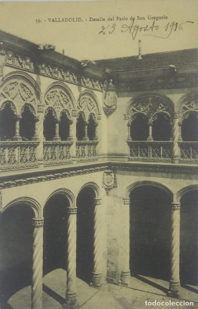 39 VALLADOLID. DETALLE DEL PATIO DE SAN GREGORIO. 1916 (Postales - España - Castilla y León Antigua (hasta 1939))