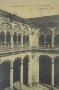 39 Valladolid. Detalle del Patio de San Gregorio. 1916
